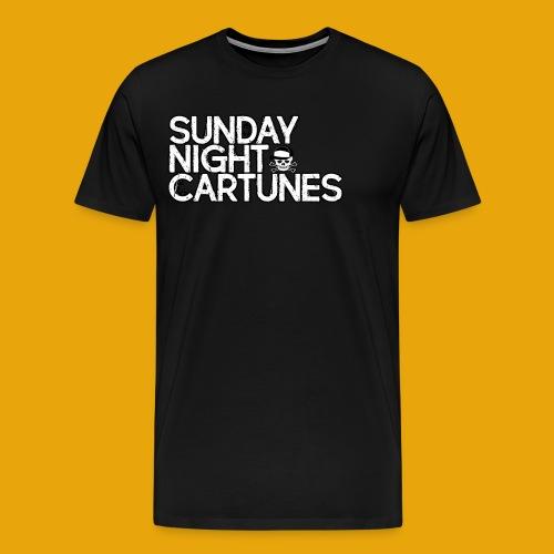 Sunday Night Cartunes Skull - Men's Premium T-Shirt