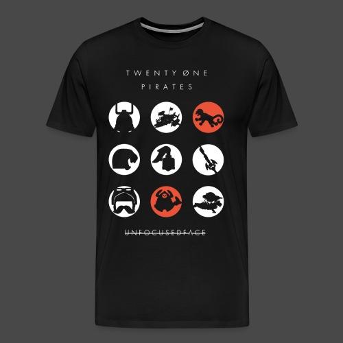 Twenty-Øne Pirates: UnfocusedFace Official Logo - Men's Premium T-Shirt