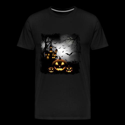 Halloween Pumpkin Castle - Men's Premium T-Shirt