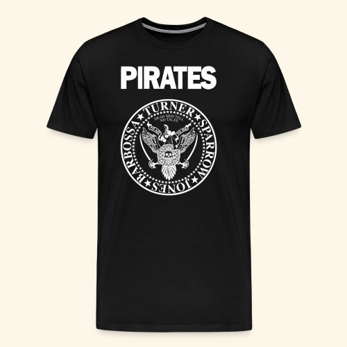 Punk Rock Pirates [heroes] - Men's Premium T-Shirt