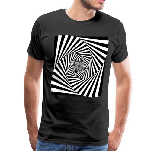 Spiral | Abstract Op Art | Black and White - Men's Premium T-Shirt