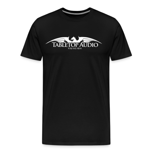 Tabletop Audio: Logo White - Men's Premium T-Shirt