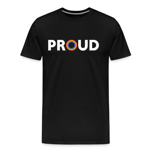 Proud - White Text - Men's Premium T-Shirt