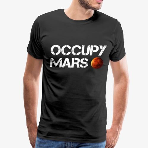 Occupy Mars Elon Musk Joe Rogan Smoking Weed - Men's Premium T-Shirt
