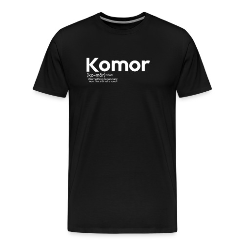 Definition of komor. - Men's Premium T-Shirt