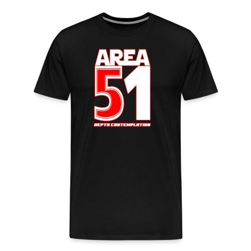Area 51 T-Shirt Depth Contemplation - Men's Premium T-Shirt
