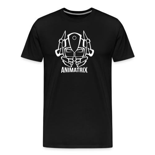 Animatrix: Hybrid Head Line-art Design - Men's Premium T-Shirt