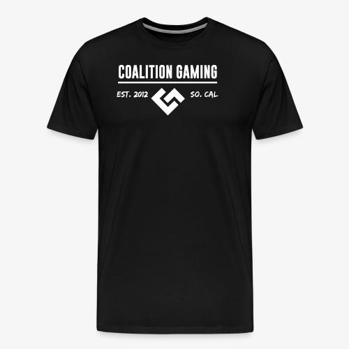 CG White Logo No Outline - Men's Premium T-Shirt