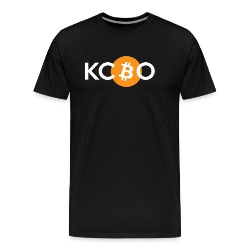kcbo logo dark - Men's Premium T-Shirt