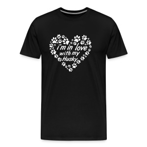 Im in love with my husky dog - dogs lovers - Men's Premium T-Shirt