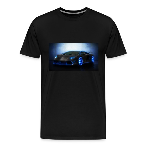 lamborghini black back ground - Men's Premium T-Shirt