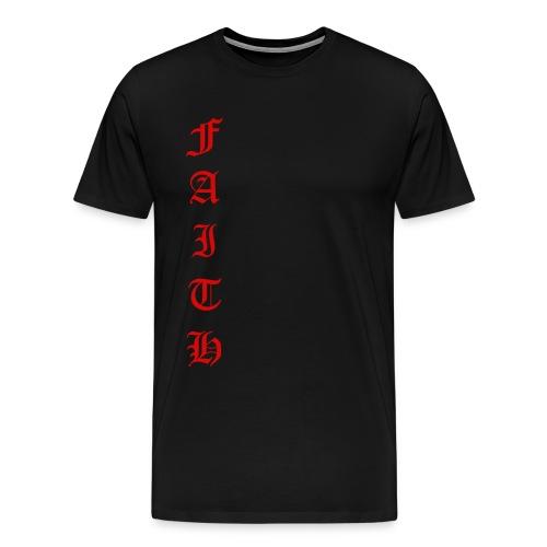 Faith Text - Men's Premium T-Shirt