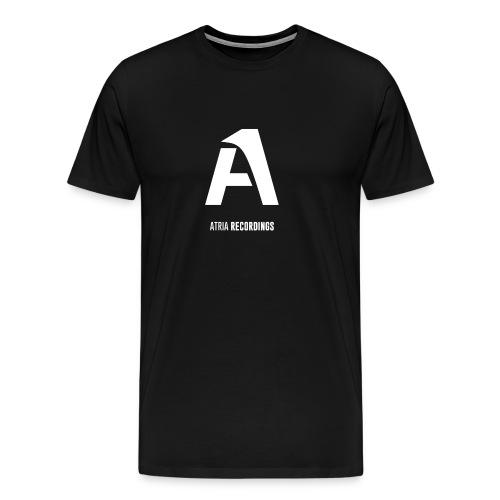White Atria Recordings Logo w/ Text - Men's Premium T-Shirt