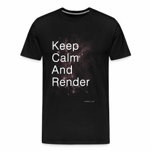 Keep Calm and RENDER - Men's Premium T-Shirt