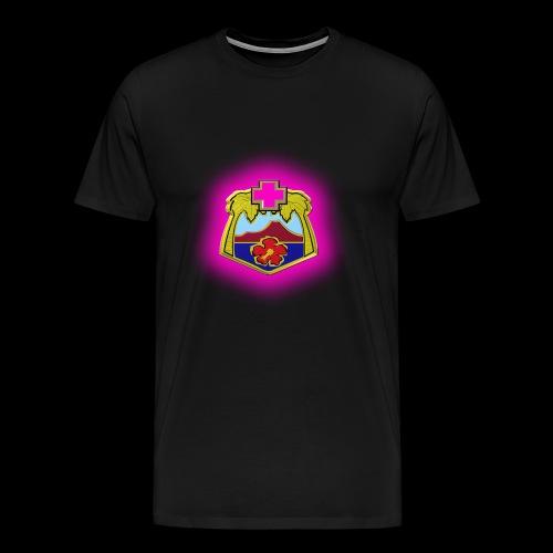 TRIPLER LOGO IN PINK - Men's Premium T-Shirt