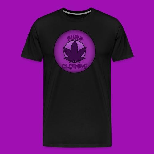 Purp Leaf Logo - Men's Premium T-Shirt