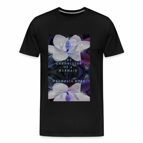 Magnolia Rose Book Cover - Men's Premium T-Shirt