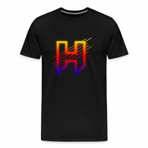 Hazaard Neon Logo - Men's Premium T-Shirt