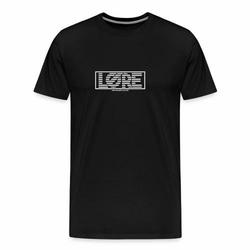 ''Lore'' Logo White Stripes - Men's Premium T-Shirt