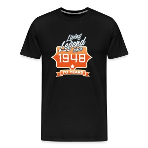 LIVING LEGEND SINCE 1948 70th Birthday Gift Idea - Men's Premium T-Shirt