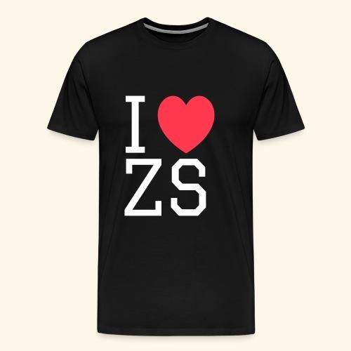 I ♥ ZS Black - Men's Premium T-Shirt