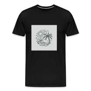 Palm tree clear wave phonecase - Men's Premium T-Shirt