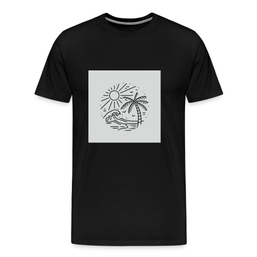 Palm tree clear wave phonecase - Men's Premium T-Shirt