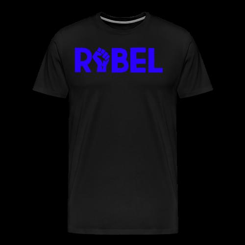 Blue Rebel Text - Men's Premium T-Shirt