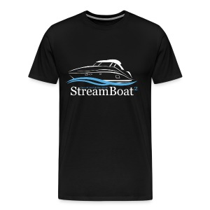 Streamboat 2 White on Black - Men's Premium T-Shirt