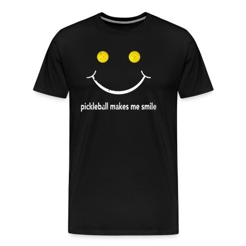 Pickleball Makes Me Smile Pickleball Shirt - Men's Premium T-Shirt