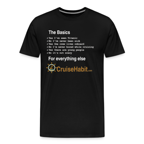 Cruising Basics (white text) - Men's Premium T-Shirt