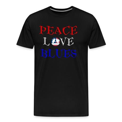 Peace, Love and Blues - Men's Premium T-Shirt