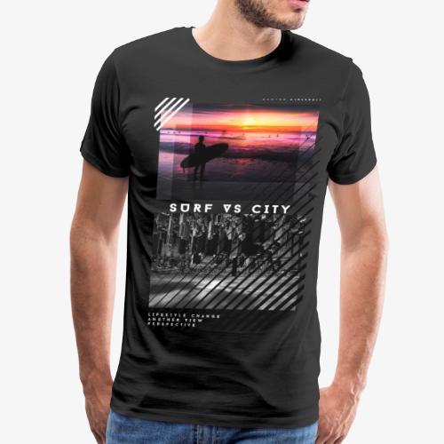 SURF VS CITY - Men's Premium T-Shirt