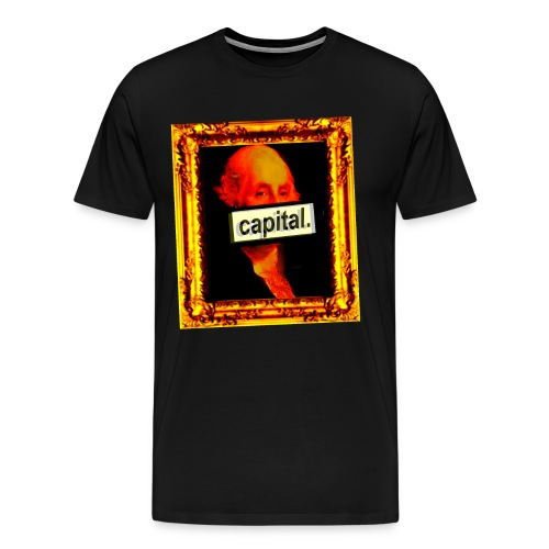 georgie wout black background - Men's Premium T-Shirt