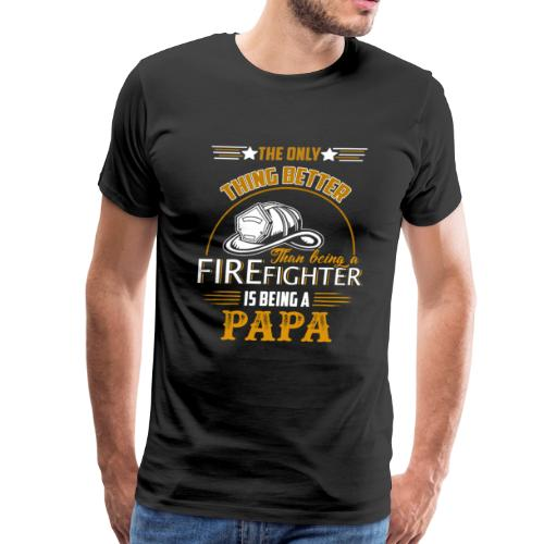 Firefighter gifts t shirt - Firefighter papa tee - Men's Premium T-Shirt