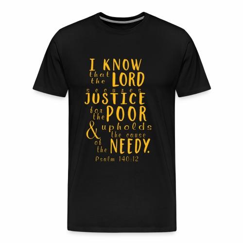 Psalm140 12 Justice - Men's Premium T-Shirt