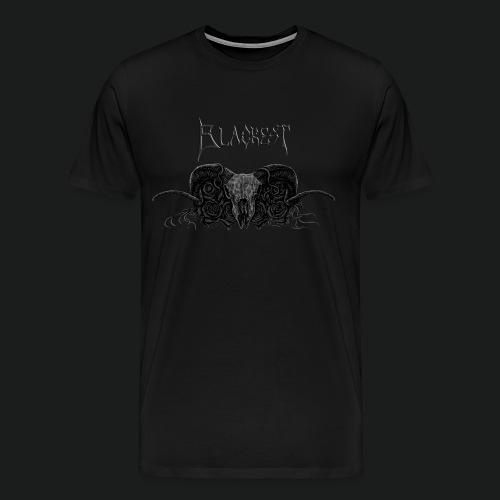 Skull and Roses With Blackest Logo - Men's Premium T-Shirt