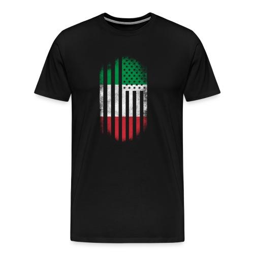 Italian American Flag Italy and USA Design - Men's Premium T-Shirt