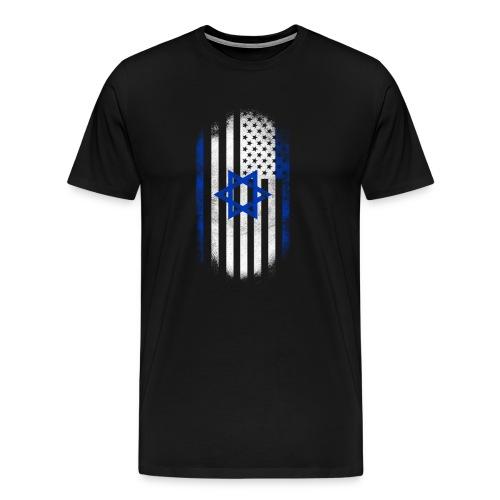 Israeli American Flag Israel and USA Design - Men's Premium T-Shirt