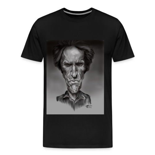 Caricature of Dirty Harry - Men's Premium T-Shirt