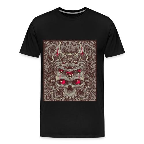 Bat and Skull - Men's Premium T-Shirt
