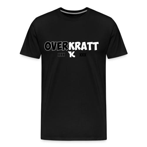 overkratt words and logo - Men's Premium T-Shirt