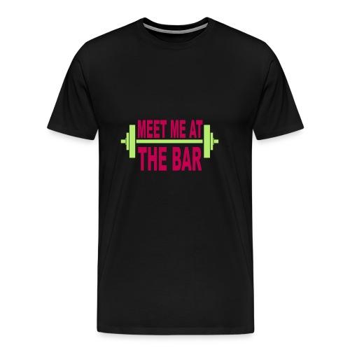 meet_me_at_the_bar_2_spreadsheet - Men's Premium T-Shirt