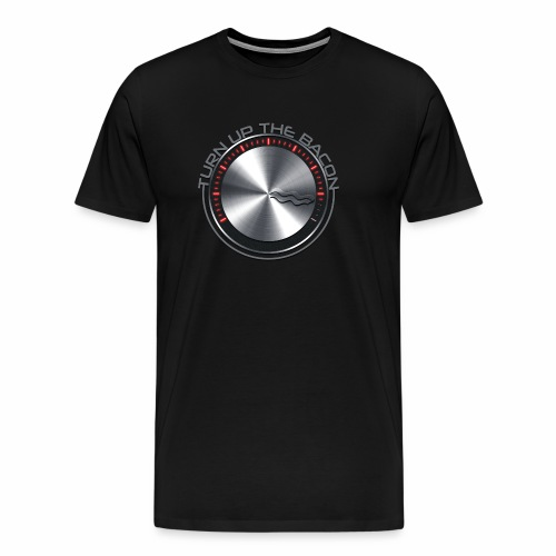 Turn Up The Bacon logo - Men's Premium T-Shirt