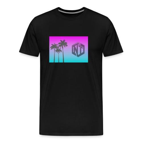 NayTendo Modern Palm Tree Logo Design - Men's Premium T-Shirt