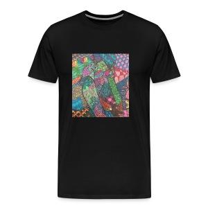 Zentangle Rip - Men's Premium T-Shirt