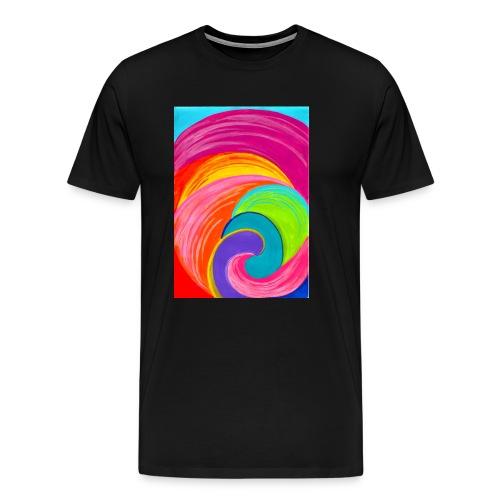 Colorful rainbow swirl - Men's Premium T-Shirt
