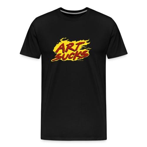 Flaming Art Sucks - Men's Premium T-Shirt