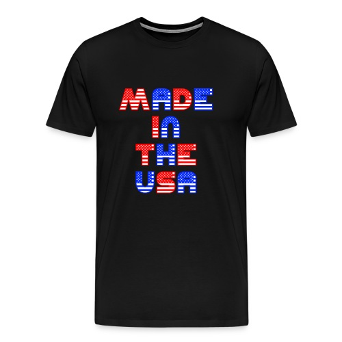 Made In the USA Patriotic United States - Men's Premium T-Shirt