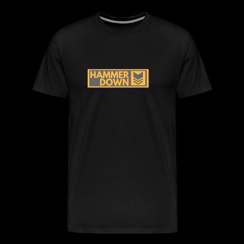 Hammer Down Logo (Large) - Men's Premium T-Shirt